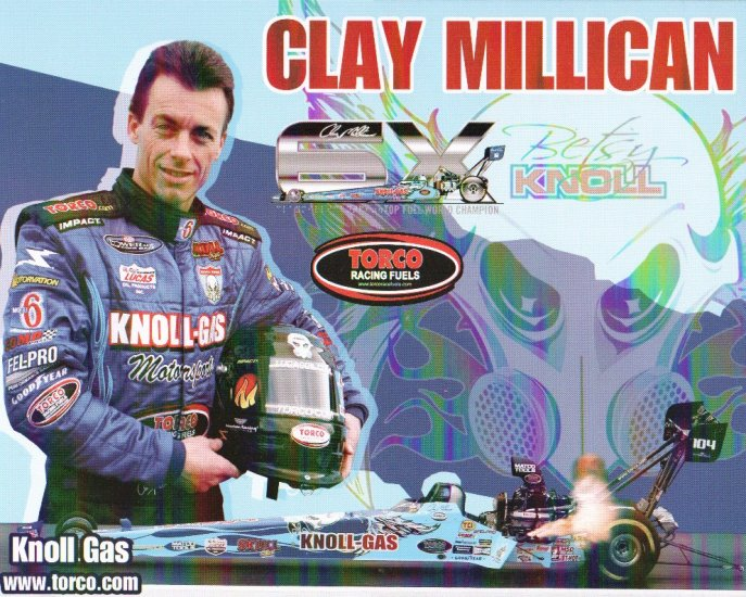 2007 NHRA TF Handout Clay Millican (Knoll Gas Version #3) Atlanta