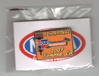 2007 NHRA Event Pin Pomona (Winternationals) Free Shipping