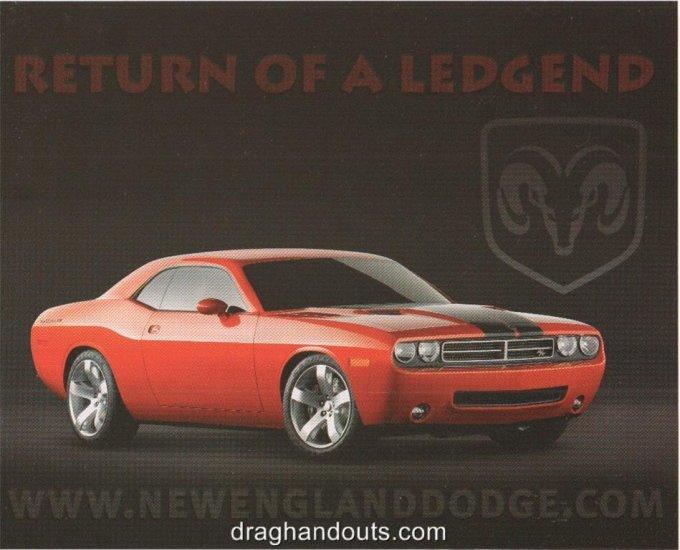 2008 Handout Dodge Challenger Concept N.E. Dodge Dealers