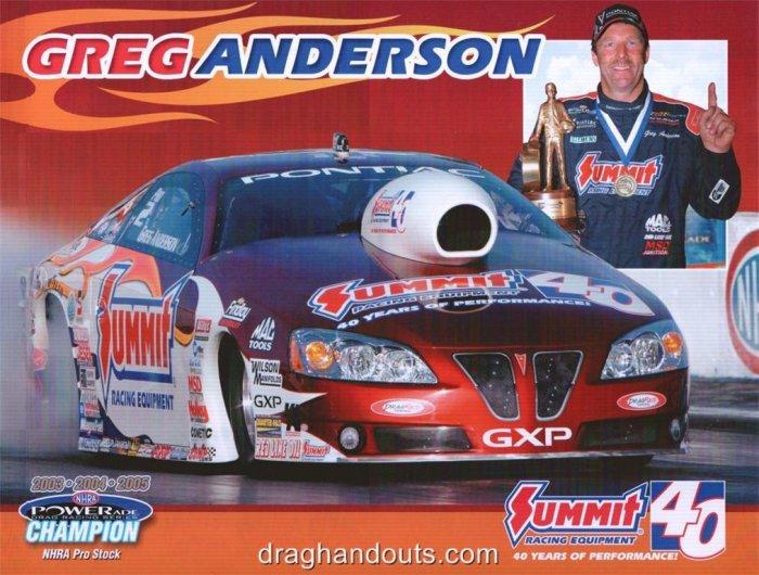 2008 NHRA PS Handout Greg Anderson (version #2)