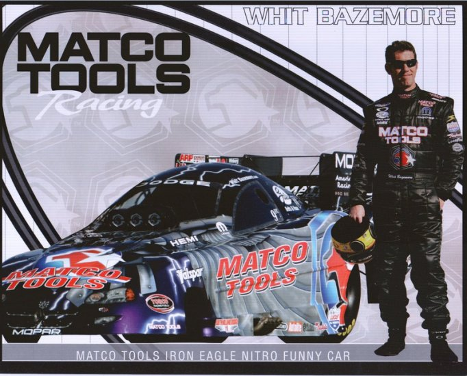 2006 NHRA FC Handout Whit Bazemore