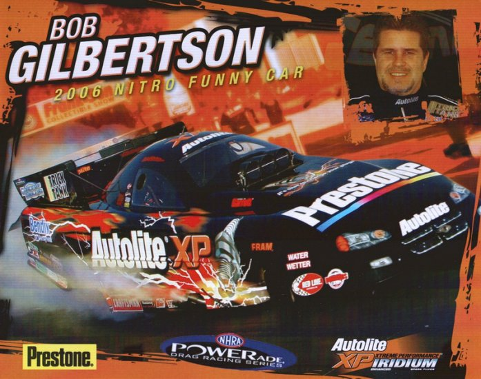 2006 NHRA FC Handout Bob Gilbertson (version #2-Powerade)