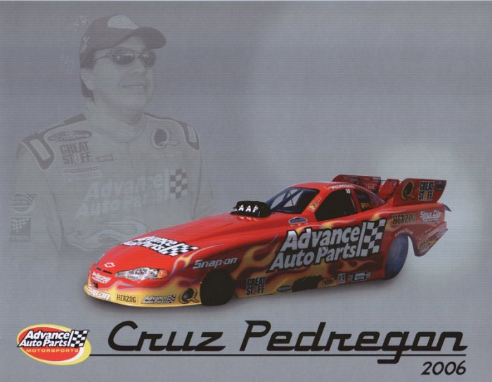2006 NHRA FC Handout Cruz Pedregon (version #1)
