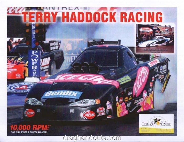 2008 NHRA FC Handout Terry Haddock