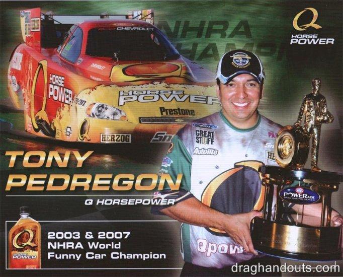 2008 NHRA FC Handout Tony Pedregon (version #1) Q Racing