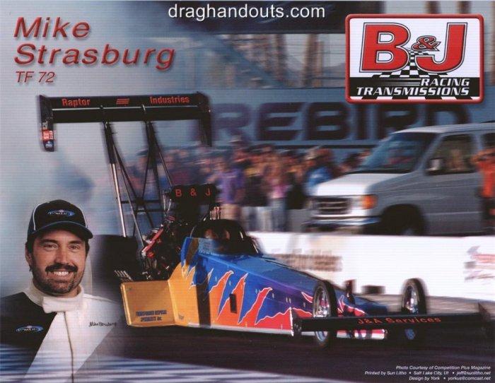 2006 NHRA TF Handout Mike Strasburg