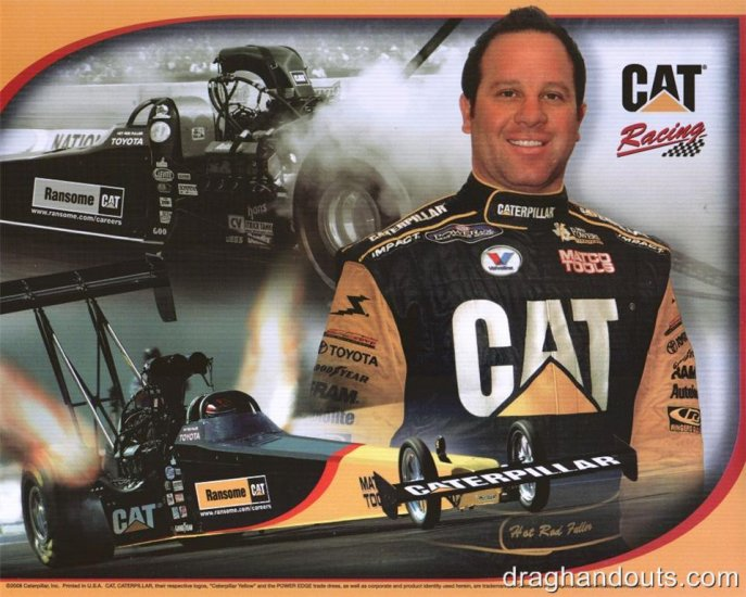 2008 NHRA TF Handout Hot Rod Fuller (Maple Grove-Ransome Caterpillar)