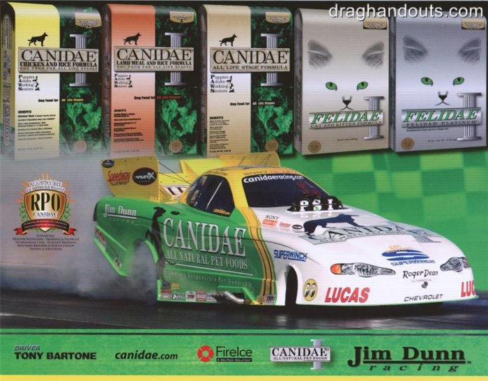 2008 NHRA FC Handout Tony Bartone (version #2)