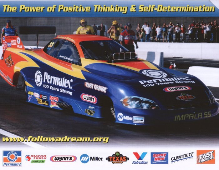 2008 NHRA AFC Handout Marty Nothstein