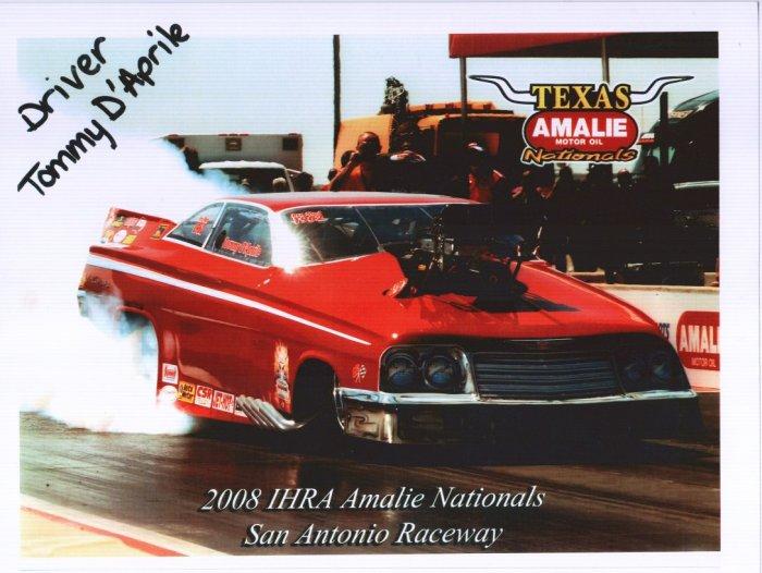 2008 NHRA PM Handout Tommy D'Aprile (version #1)