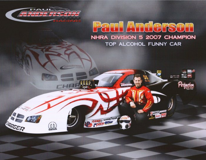 2008 NHRA AFC Handout Paul Anderson