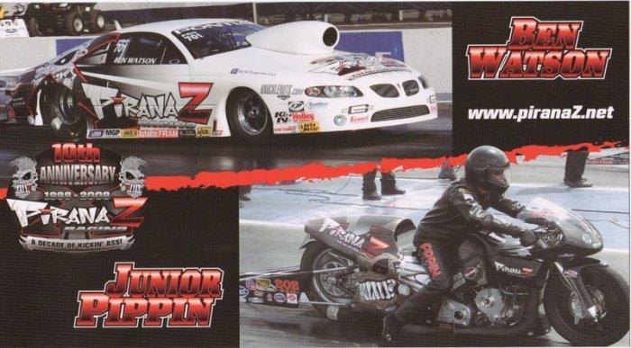 2008 NHRA PS Handout Ben Watson