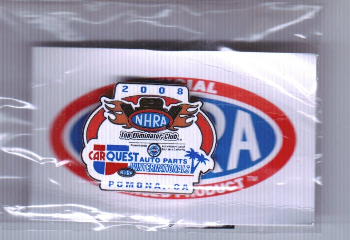 2008 NHRA Event Pin Pomona Winternationals TEC Club Free Shipping