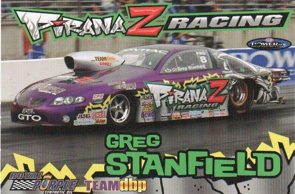 2007 NHRA PS Handout Greg Stanfield (version # 2) Postcard