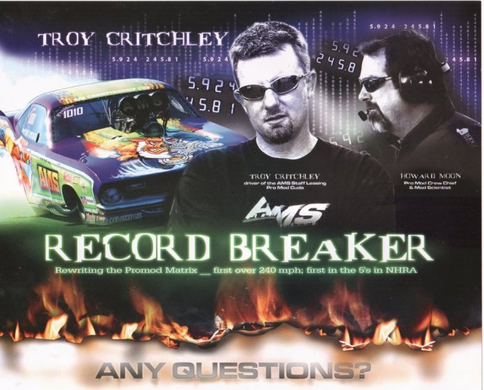 2007 NHRA PM Handout Troy Critchley