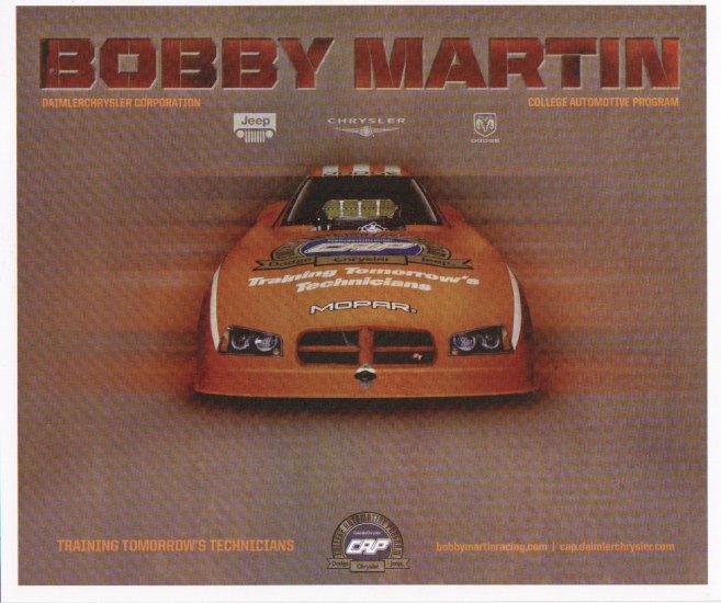 2007 NHRA AFC Handout Bobby Martin (version # 3)