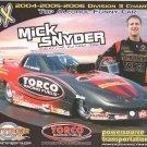 2007 NHRA AFC Handout Mick Snyder