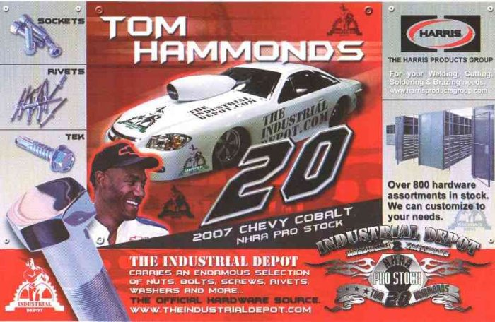 2007 NHRA PS Handout Tom Hammonds (version #2) Black & white back