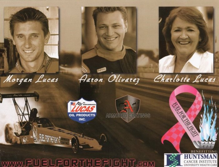"2005 NHRA TF Handout Morgan Lucas ""Fuel For the Fight"""