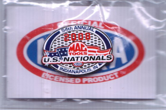2008 NHRA Event Pin Indy (version #1)