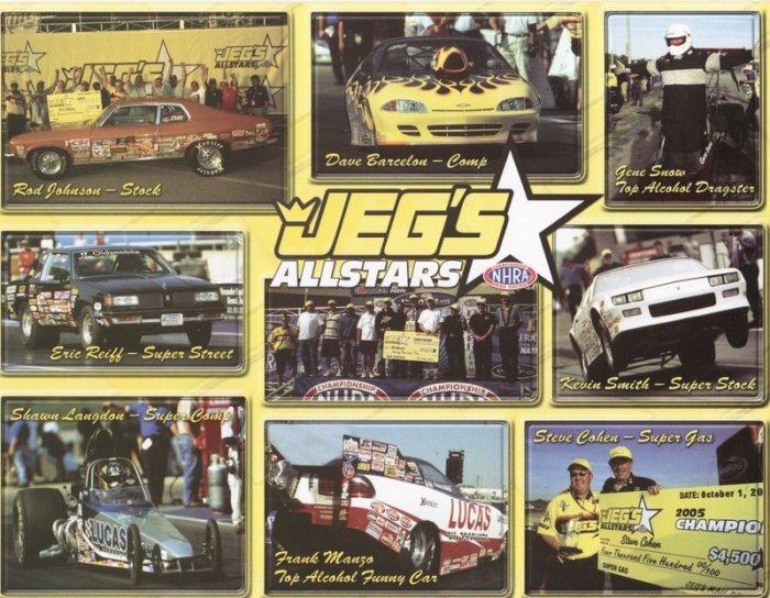 2006 NHRA Sportsman Handout Jeg's All-Stars