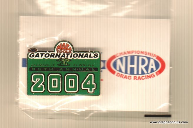 2004 NHRA Event Pin Gainesville (version #1)