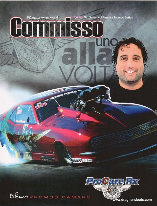 2011 NHRA PM Handout Ray Commisso