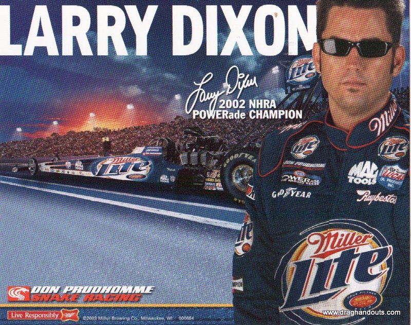 2003 NHRA TF Handout Larry Dixon