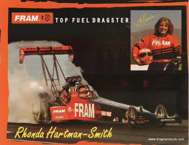 2003 NHRA TF Handout Rhonda Hartman-Smith