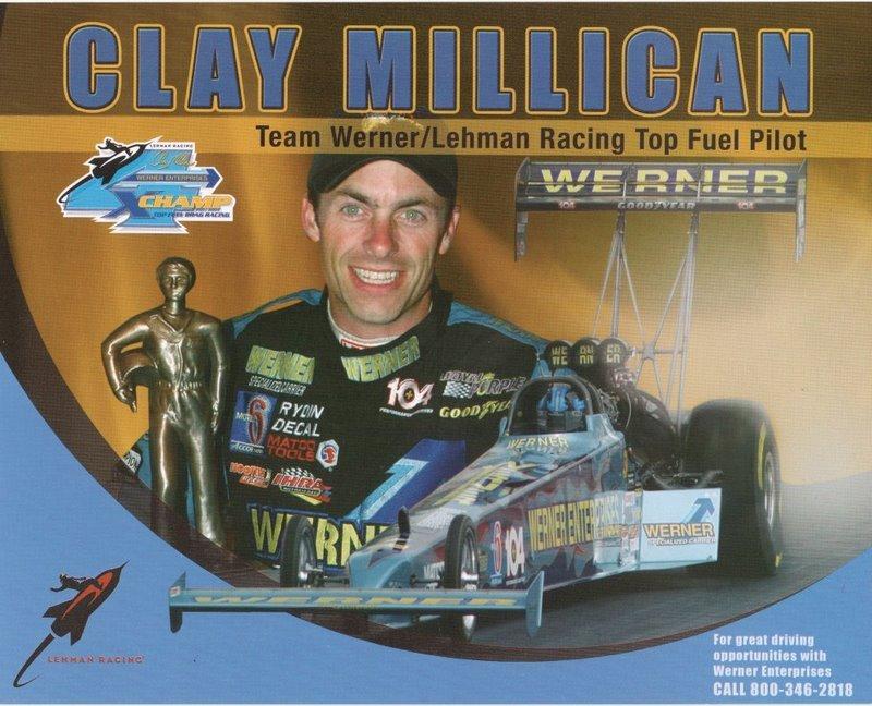 2005 NHRA TF Handout Clay Millican Werner