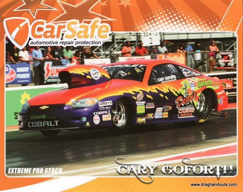2011 NHRA PS Handout Cary Goforth