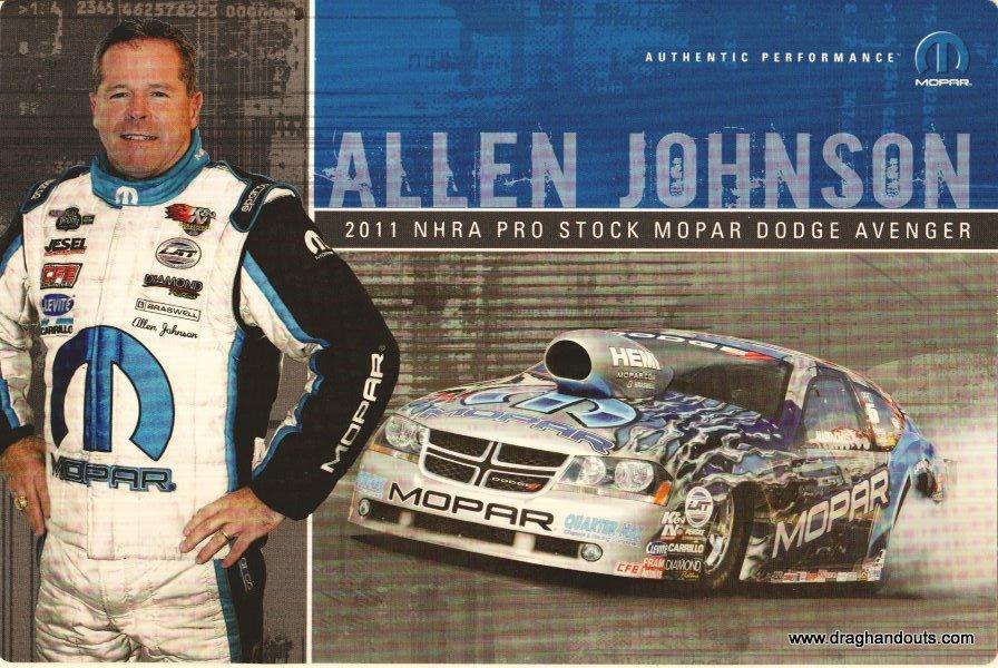 2011 NHRA PS Handout Allen Johnson