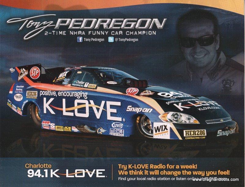 2011 NHRA FC Handout Tony Pedregon (version #8) K Love Charlotte