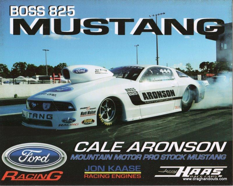 2011 NHRA PS Handout Cale Aronson