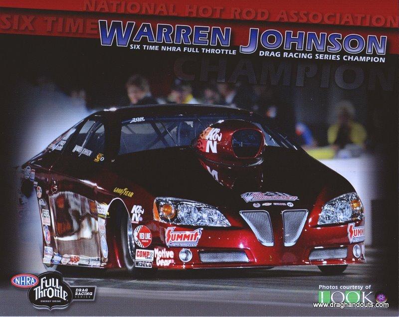 2011 NHRA PS Handout Warren Johnson