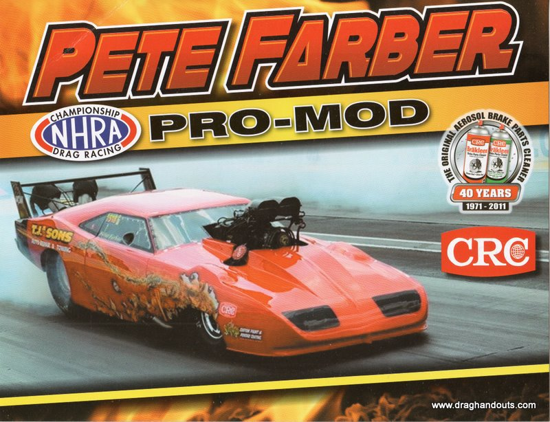 2011 NHRA PM Handout Pete Farber