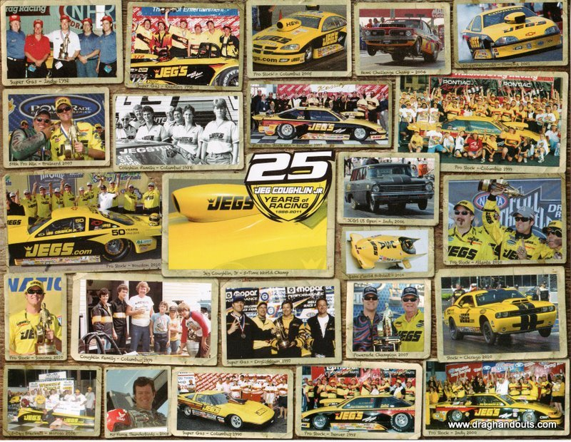 2011 NHRA PS Handout Jeg Coughlin 25 Years of Racing