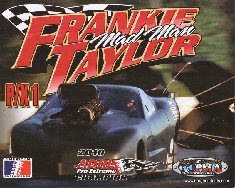2011 NHRA PM Handout Frankie Taylor