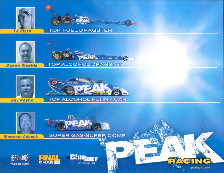 2012 NHRA TAD Handout Duane Shields (Peak Racing Team)