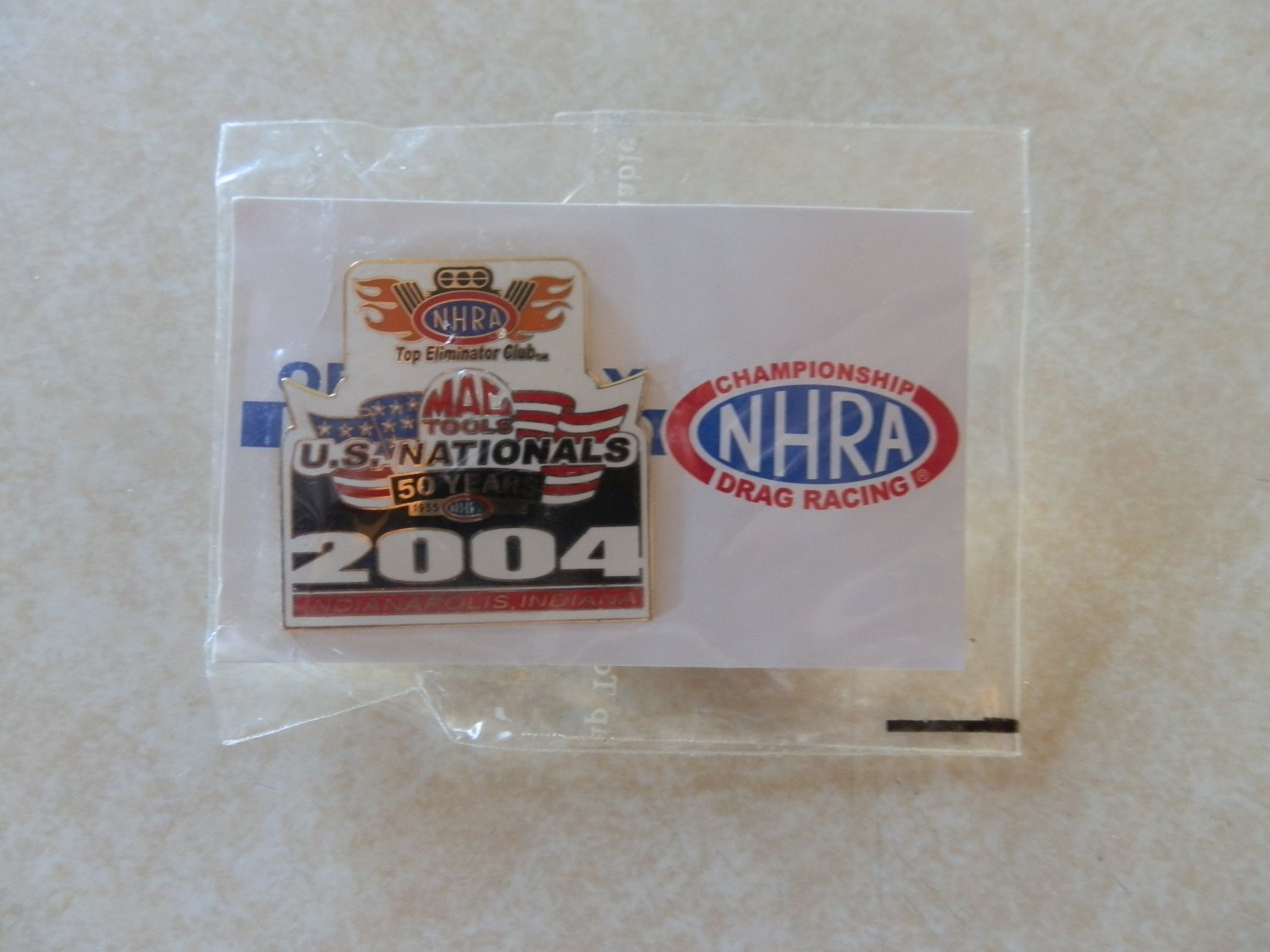 2004 NHRA Event Pin Indianapolis TEC Free Shipping