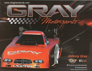 2013 NHRA FC Handout Johnny Gray (version #2)
