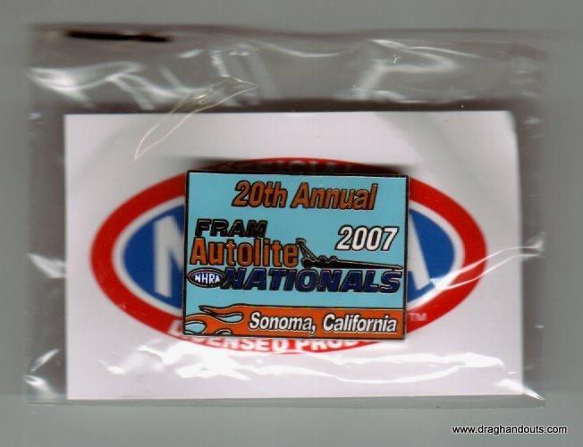 2007 NHRA Event Pin Sonoma