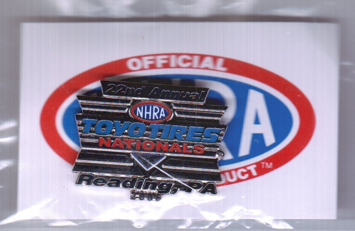 2006 NHRA Event Pin Reading