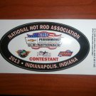 2013 NHRA Contestant Decal Indy