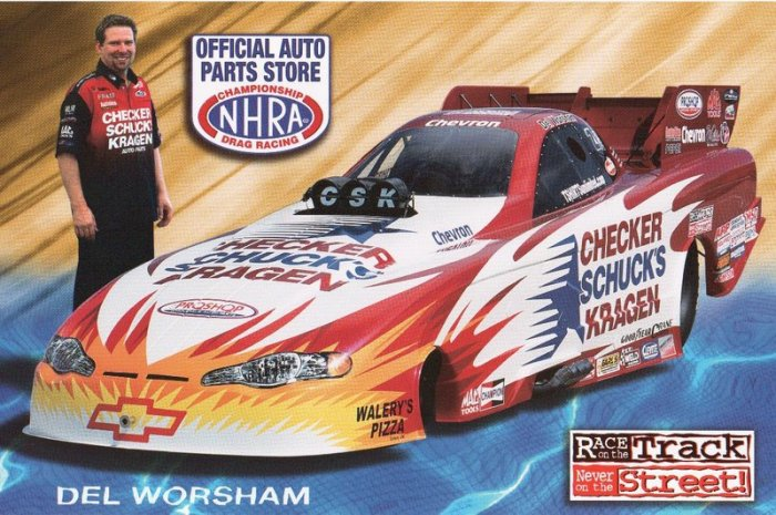2005 NHRA FC Handout Del Worsham