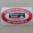 1995 NHRA Contestant Decal Englishtown