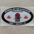 2001 NHRA Contestant Decal Bristol