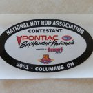 2001 NHRA Contestant Decal Columbus