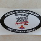 2001 NHRA Contestant Decal Englishtown
