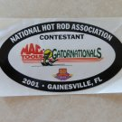 2001 NHRA Contestant Decal Gainesville